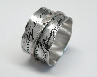Juliet Spinner Ring in Sterling Silver with Sterling, Copper or Brass Spinner