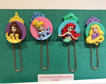 Set of 4 Disney princesses Planner Clips