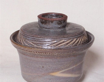Mishima lidded bowl
