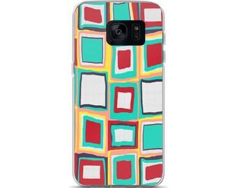 Retro TV Squares Samsung Case