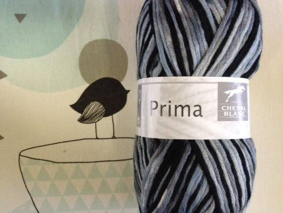 PRIMA wool gray mix - white horse