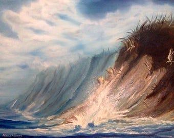 Folly Beach South Carolina Landscape Oil Painting