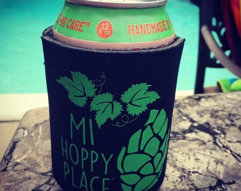 MI Hoppy Place Can Cooler