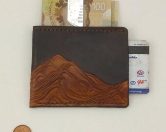 Mountain Wallet - Slim Brown Leather Wallet