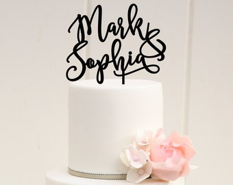 Customized Wedding Cake Topper, Personalized Cake Topper for Wedding, Custom Personalized Wedding Cake Topper, First Names Cake Topper