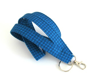 Lanyard ID Badge Holder, Fabric Lanyard Teal blue Unisex Keychain Gift for Him, Women's Accessories, Teacher Lanyard