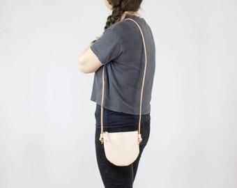 Crossbody Purse - Nude Leather Bag - Small Crossbody Bag - Crossbody Bags for Women - Leather Purse - Womens Leather Bag - Veg Tan Purse