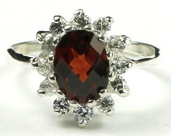 Mozambique Garnet, 925 Sterling Silver Ring, SR235