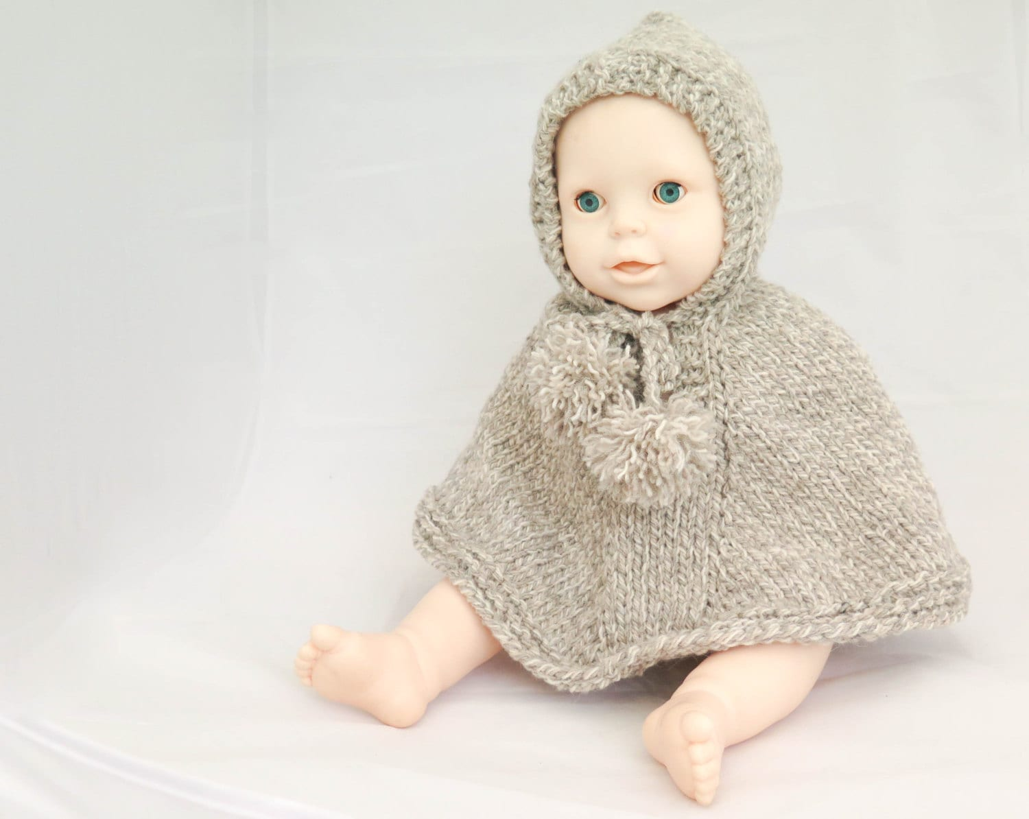 KNITTING PATTERN, Poncho, Hooded Poncho, Cape, Cloak, Baby Poncho ...