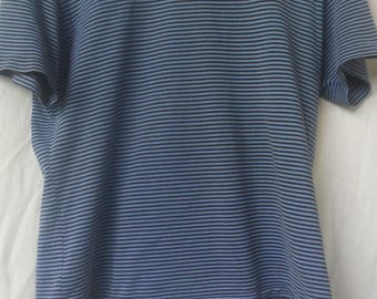 Vintage Polo Striped by Ralph Lauren T SHirt//AMerican Designer//Made in Japan