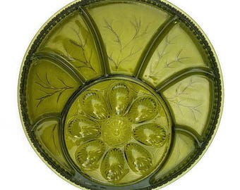 Indiana Glass Egg Plate