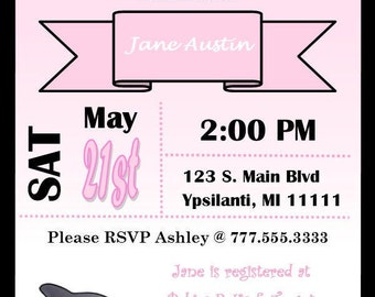 Whale Baby Shower Invitation For Baby Girl