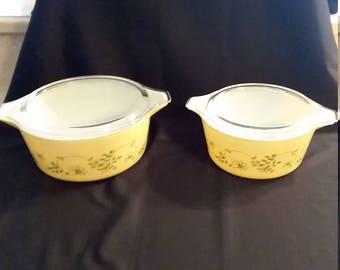 Pyrex Shenandoah 1.5 Quart and 2.5 Quart Covered Casseroles