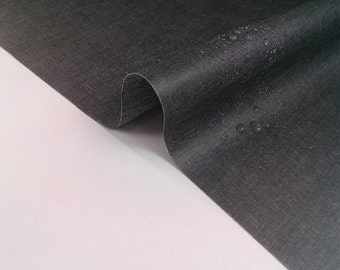 Laminated Cotton Fabric - Black - By the Yard 88699