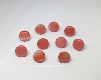Round Peach/Orange/White/Yellow Sunset Colored Push Pins/Thumbtacks for Cork board or Wall