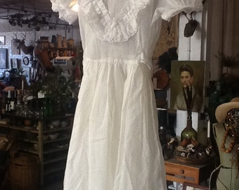 Vintage Girls Organdy Dress