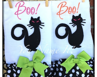 "Halloween Towel ""Black Cat"""