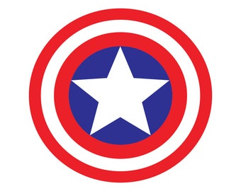 Captain America Superhero SVG DXF eps png Logo Vector Cut File Silhouette Cameo Cricut Design Template Stencil Tshirt Party Vinyl Decal