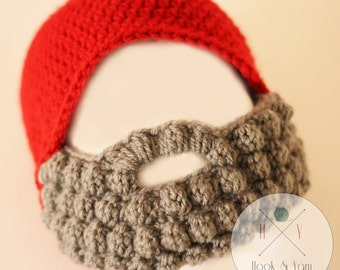 3-6 MONTHS SIZE ; Infant  Toddler Beard Hat, Baby Boy Beard, Mens Beard Hat, Custom Beard Crochet Hat, Crochet Beard, Bearded Hat