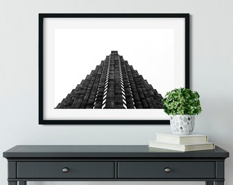 Pyramid - New York Photography, Black and White, Architecture, Wall Art, NYC, Fine Art Print, Urban Art, Home Decor