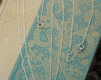 Dainty Bead Sterling Silver Necklace