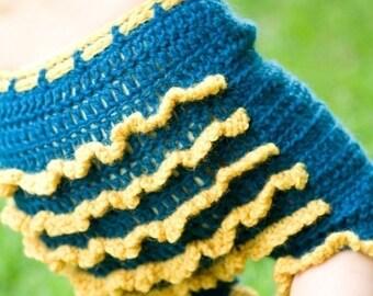 Crochet Pattern for Baby PDF Ruffle Bum Shorties or Longies by Kristie Lynn