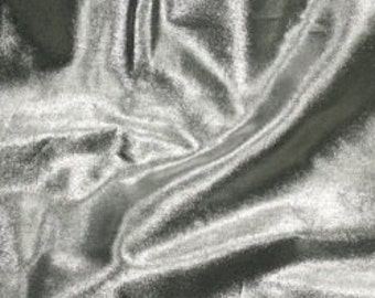Silver Tissue Lame Fabric FQ - Metallic, shiny, polyester fabric