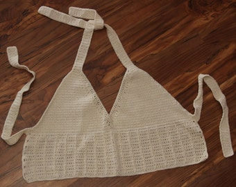 White Hot Summer Halter Top Crochet Pattern