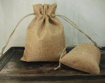 set of 2 linen thread, white pouch, 9 * 12 mm