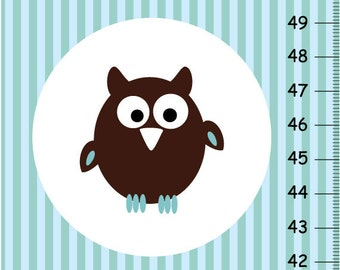 Personalized  chubby owls Growth Chart