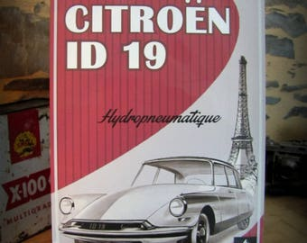 Metal plate deco citroen DS - ID 19