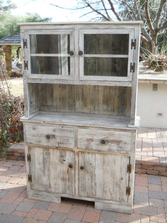 hutch with nailheads door barnwood bookcase