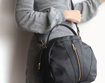 TOULOUSE BAG / Eco friendly Evening bag - Black crossbody bag  / Vegan leather cross-body bag - Black bag /Vegan bag - Vegan handbag