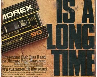 "Memorex Cassette Tape 10"" x 7"" Retro Look Metal Sign D22"