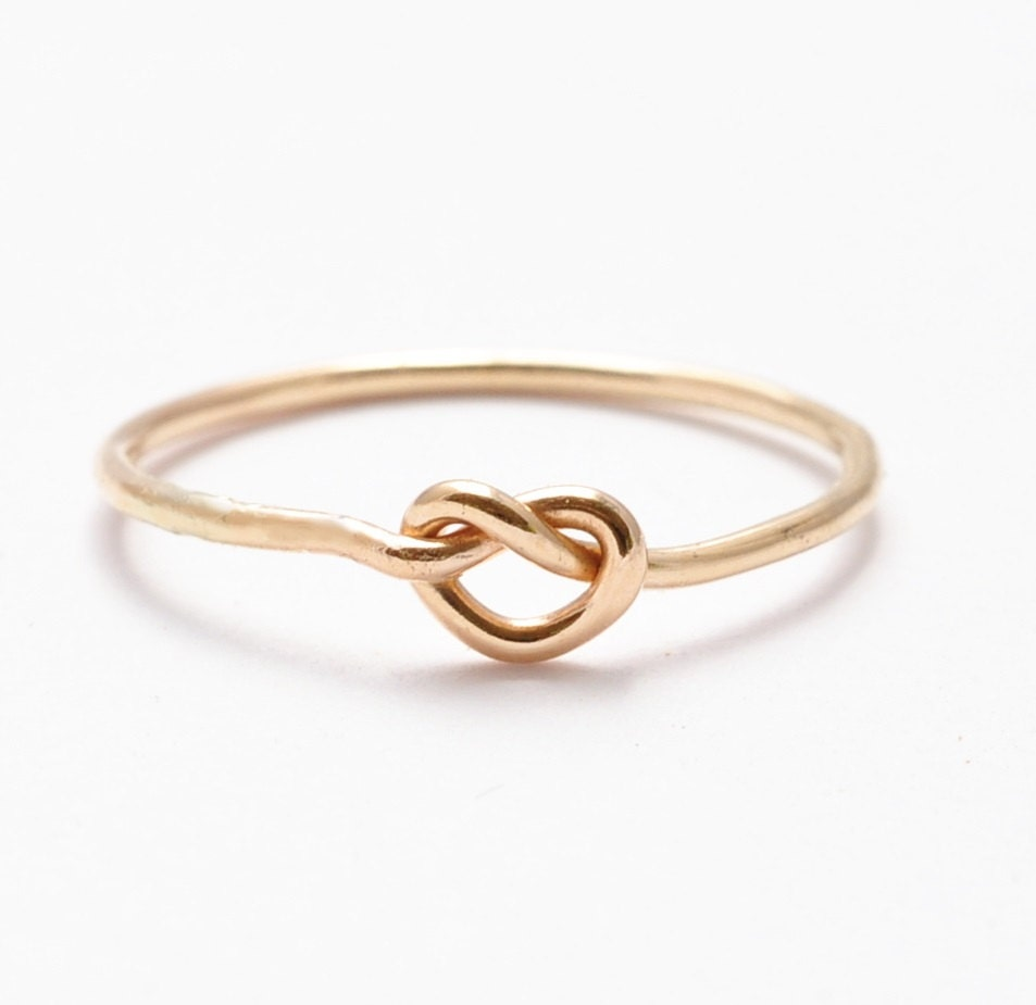 Gold Knot Ring: 14K Yellow Gold Filled Gifts for Teenage