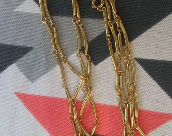 Super Long Vintage Gold Necklace