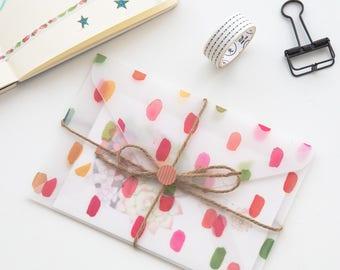 6 Pcs Envelopes Glassine Envelopes Clear Envelopes Envelopes Sets