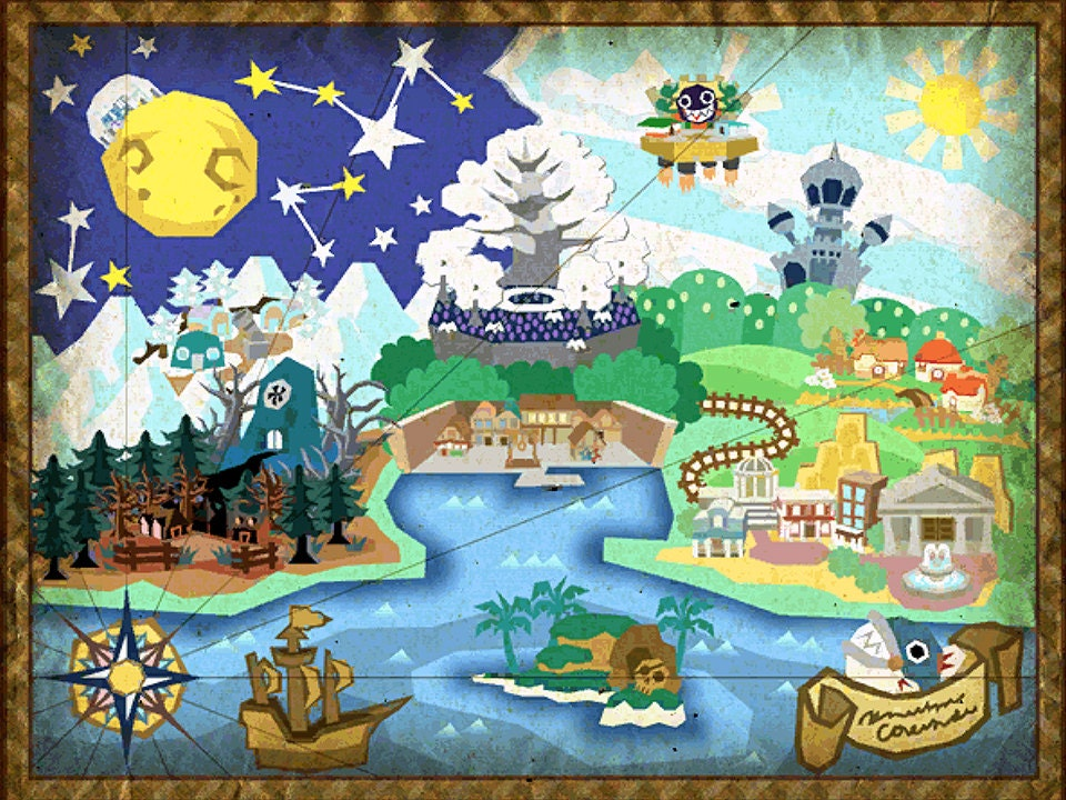 Paper mario the thousand year door map poster zoom gumiabroncs Image collections