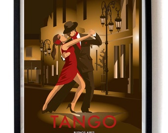 Tango Argentina – Vintage Travel Poster