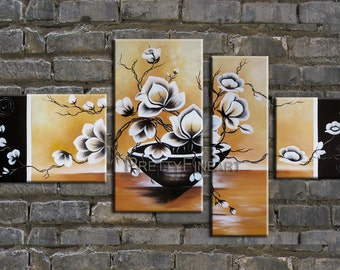 oil painting,flowers painting,modern canvas painting for home decor,framed,ready to hang,huge 160x80cm-NE057