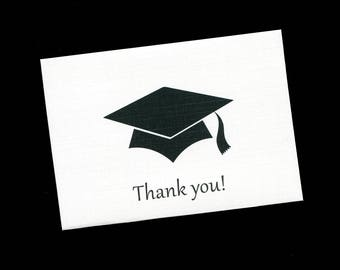 Graduation Thank You Cards - Note Cards - Blank - Graduation Cap