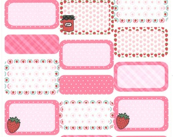 Strawberry Jam Boxes || Planner Stickers
