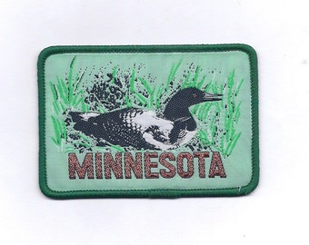Vintage Loon Minnesota State Patch