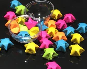 50 / 100 /or 1000 Neon color origami stars