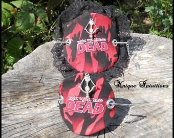 The Walking Dead Hair Barrette Slide Zombie Stick  Geeky French Twist Bun Updo Holder Hair Accessories Heavy Duty Long Hair Jewelry Pin Clip