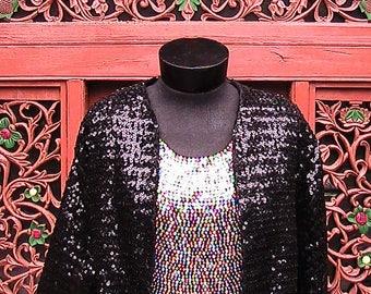 Black sequined jacket medium/large