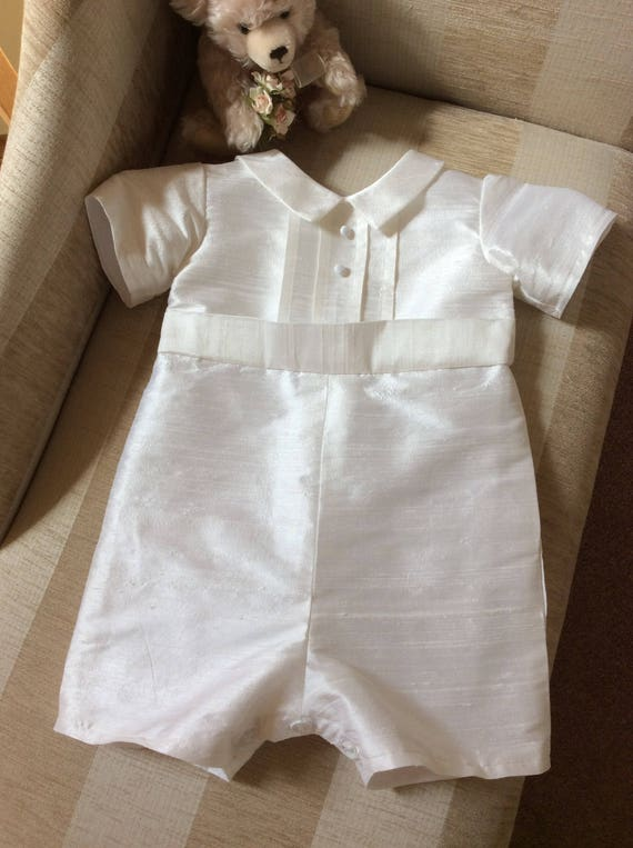 Baby Boys Silk Christening suit Baptism outfit Wedding