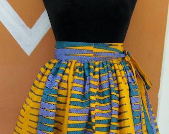 KWAME NKRUMAH PENCIL gathered skirt
