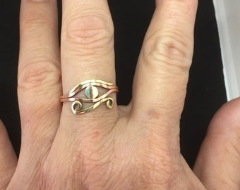 Women's Eye of Horus - copper and brass