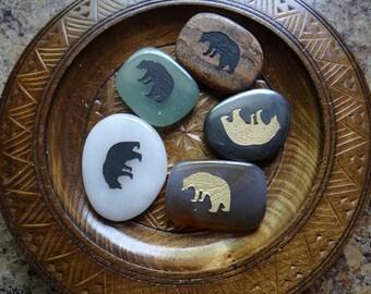 BEAR Gemstone Animal Spirit Totem for Spiritual Jewelry or Crafts
